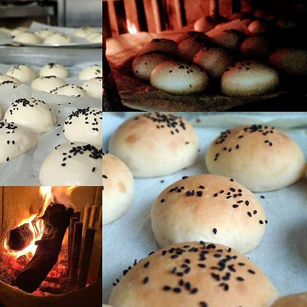Ayer hicimos pan en nuestro horno de leñ