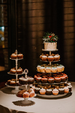 Modern Wedding Cupcake Bar