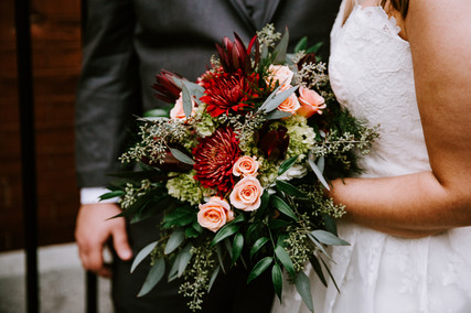 Autumn Burgundy Wedding Bouquet Florals