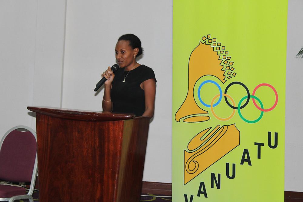 Stéphanie Mahuk during VASANOC AGM - @VASANOC 2021