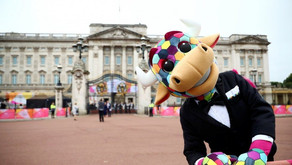 The Queen officially launches the Birmingham 2022 Queen's Baton Relay at Buckingham Palace