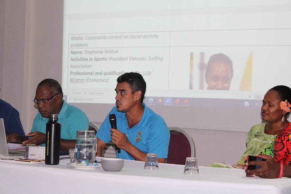 Cyrille Mainguy (middle), Secretary General of VASANOC - @VASANOC