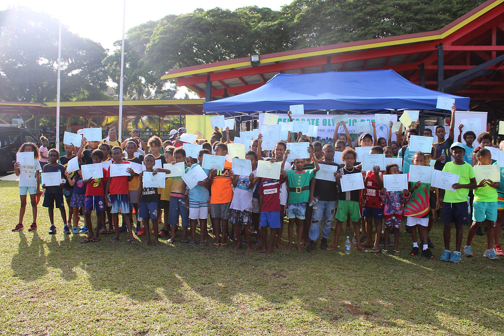 Kids with their certificate - @VASANOC