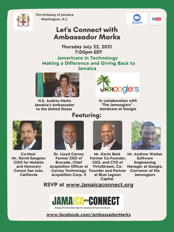 BREAKING NEWS: Jamericans in Technology - Making a Difference and Giving Back to Jamaica