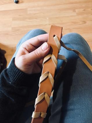 Tressage d'une ceinture