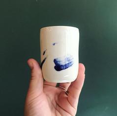 •• bleu cobalt •• Tasses à café en porce