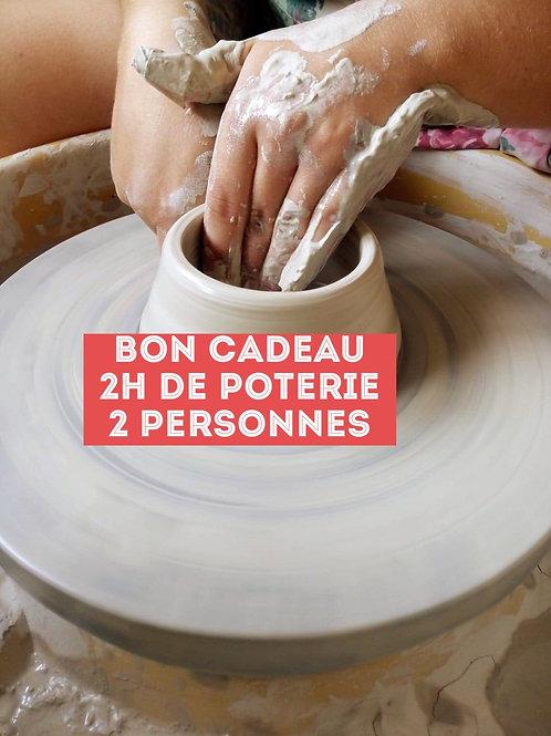 Bon cadeau 2h de poterie pour deux personnes