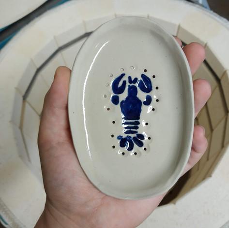 porte-savon homard