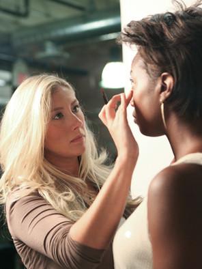 On set makeup