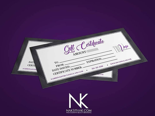 Gift Certificates (Design Only)
