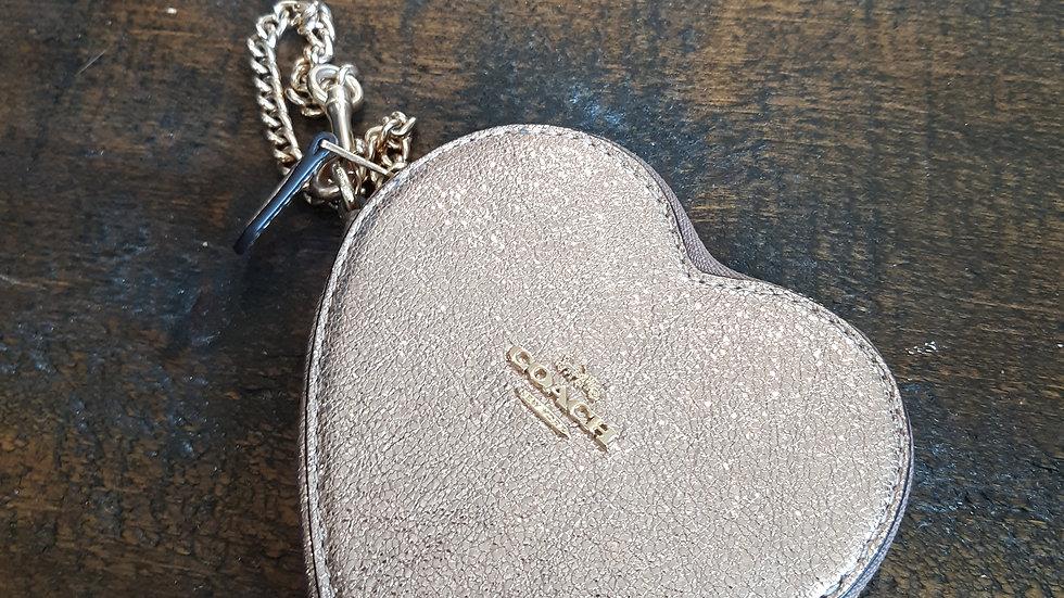 Coach metallic coin case