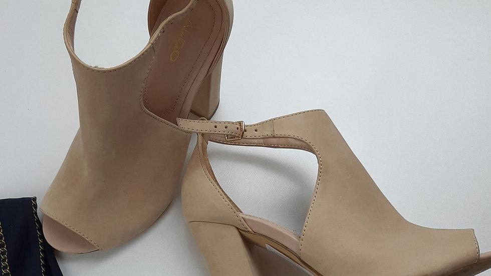 Aldo nude suede shoe
