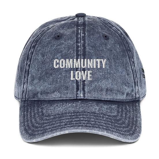 """Community Love"" Vintage Cap"