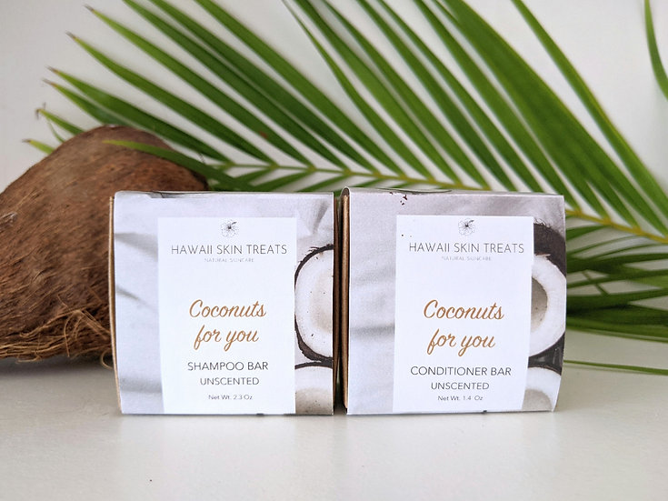 Coconuts for You Shampoo  and Conditioner Bar