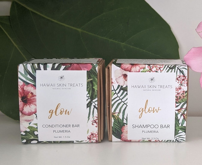 Glow Bath Set - Shampoo and Conditioner Bar