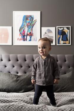 Barnfotografering hemma baby
