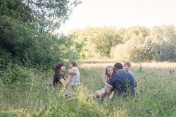 Avslappnade familjefotografier