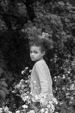 Barnfotografering porträtt utomhus