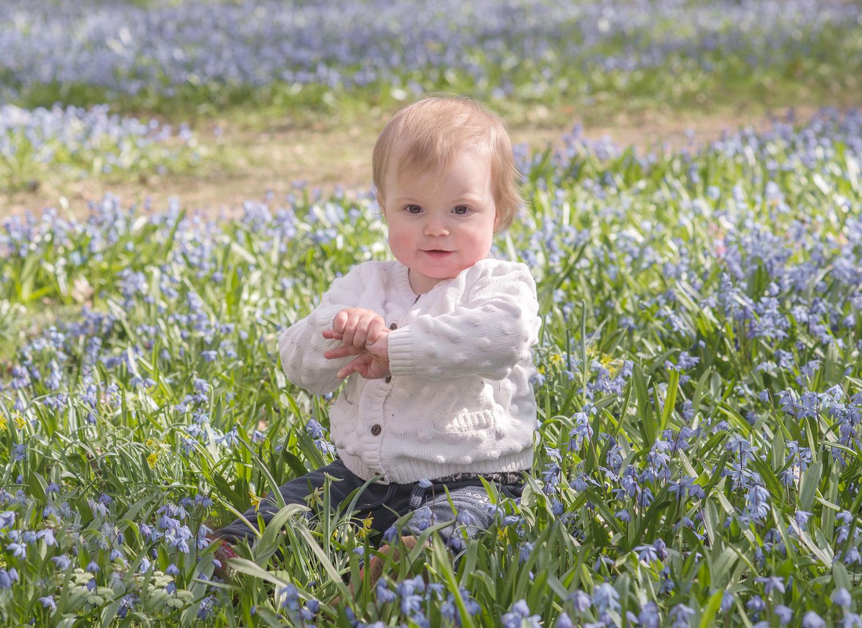 Outdoor portrait of baby.