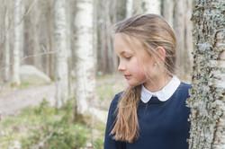 Porträttfotografering i skogen