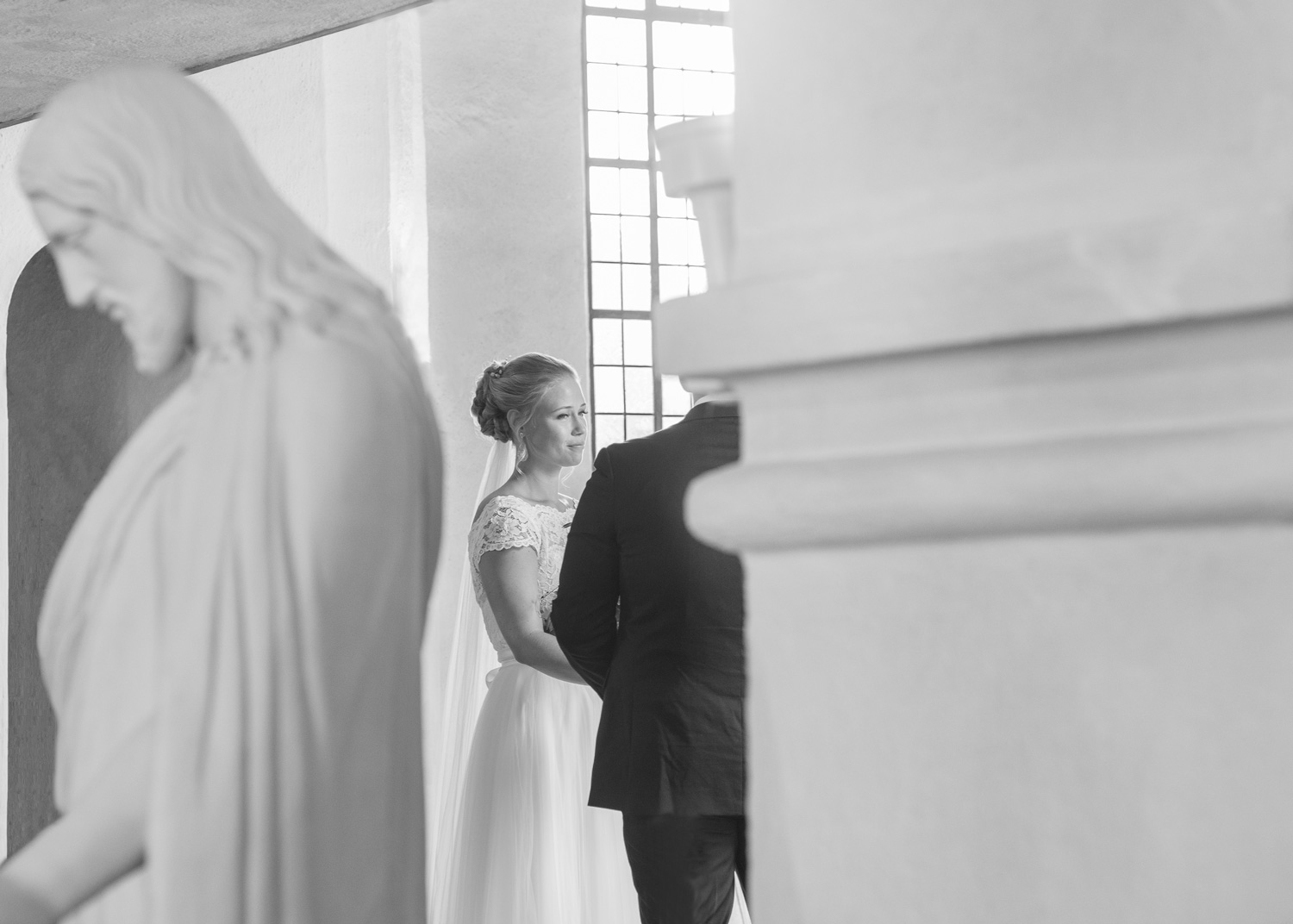 bride in the church