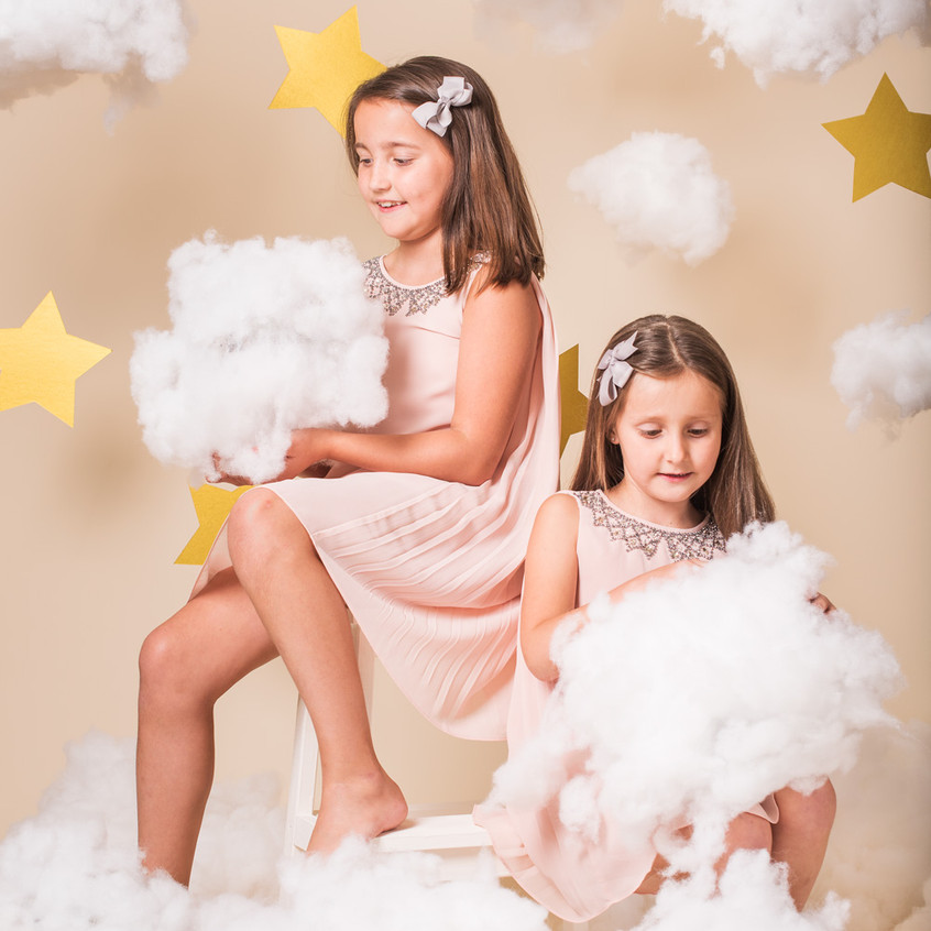 The Clouds and stars Christmas kids photoshoot session!