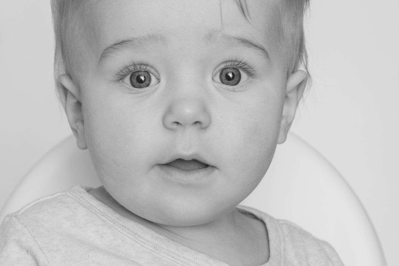 close up of baby boy