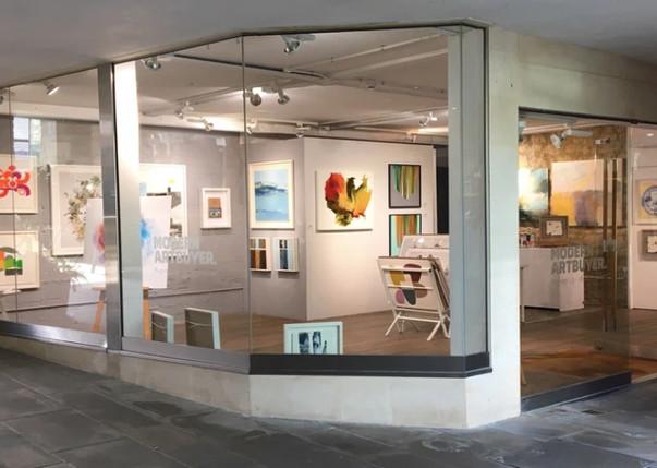 Modern ArtBuyer pop up gallery Milsom Place, Bath