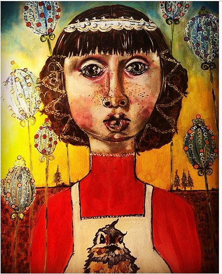Girl with Bird Apron