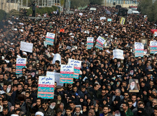 Protest in Iran now threatens regime existence for first time according to experts.
