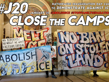 Abolish ICE Protest, Inauguration Day, January 2021, Portland, OR