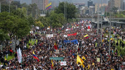 protest Duque government Colombia strike