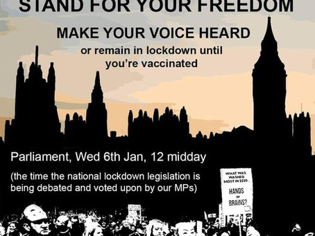 London AntiLockdown Protest, Stand for your Freedom, Parliament, Jan. 6, 2021