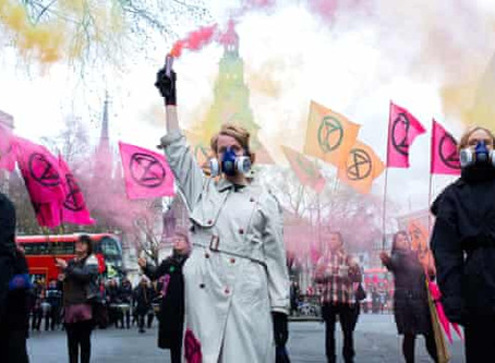 """""""No Fashion on a Dead Planet"""" UK Extinction Rebellion Targets Fashion Industry and Airport"""