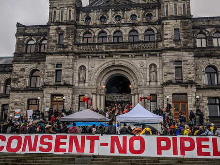 Anti-pipeline Protesters Blockade the Legislature in British Columbia, Canada, Mid-February, 2020