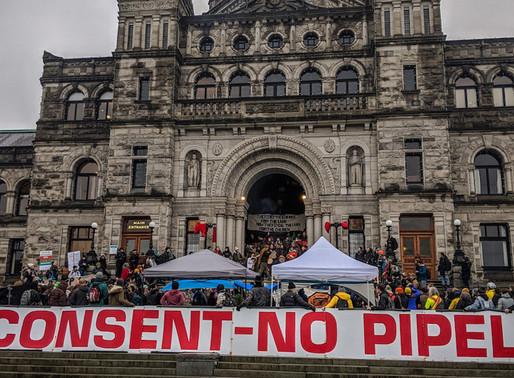 Anti-pipeline Protesters Blockade the Legislature in British Columbia, Canada, Mid-February, 2020