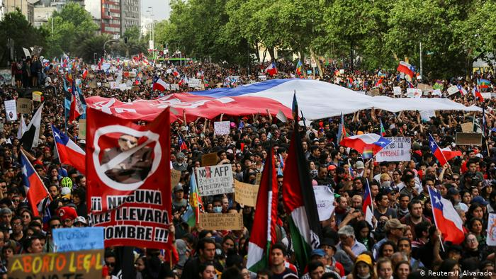 protest march Chile