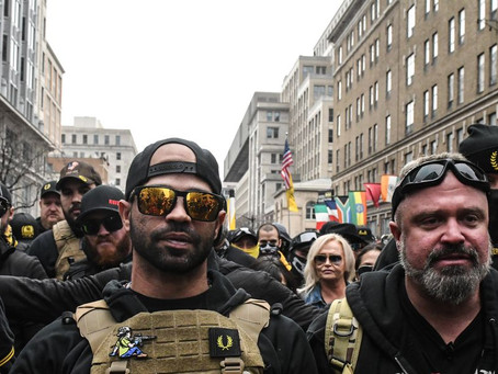 Best-Dressed Proud Boy Protesters, how little impressive fashion statements can cost!