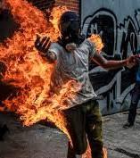 Man in flames Caracas Venezuela.jpg