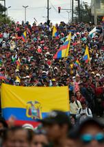 Ecuadorans protest with flags.jpg