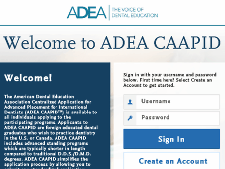 ADEA CAAPID Application Personal Statement Editing, Indian Dentist Sample