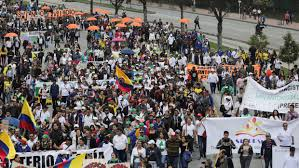 Colombia protest crowds