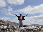 Yangil- Chieftain Gabriel in front of his ancestral lands.JPG