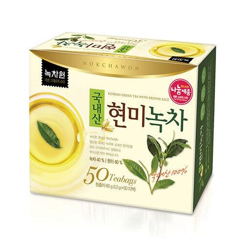 Генмайча, зеленый чай с жареным рисом Nokchawon