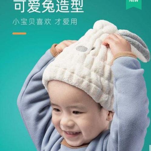 Шапочка-зайка для сушки волос детская