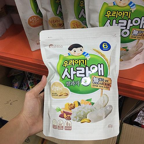 Рисовое печенье сенбей для младенцев
