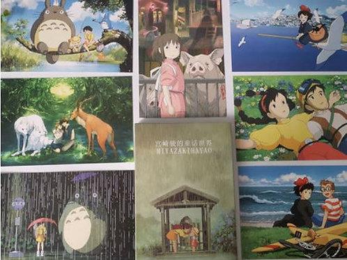 Набор открыток Миядзаки