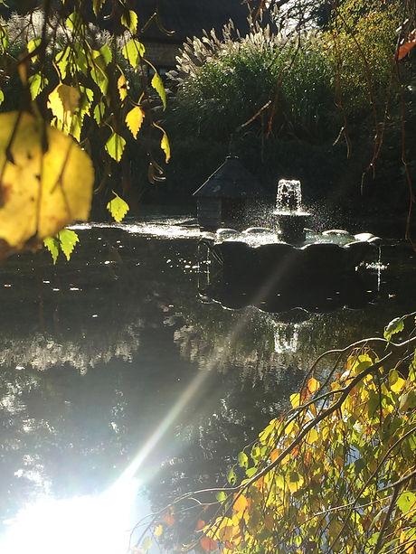 Pond and fountain Melksham Court