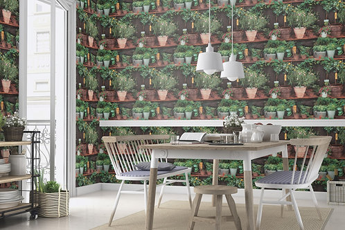 Premium quality texture face nature plants Germany made wallpaper