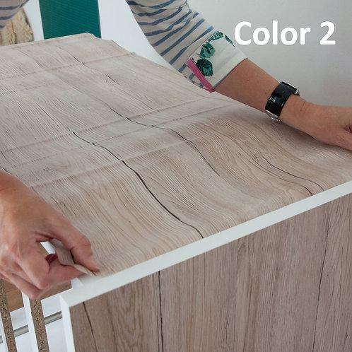Wallsticker Dinding Self-adhesive Wallpaper DIY waterproof wood design